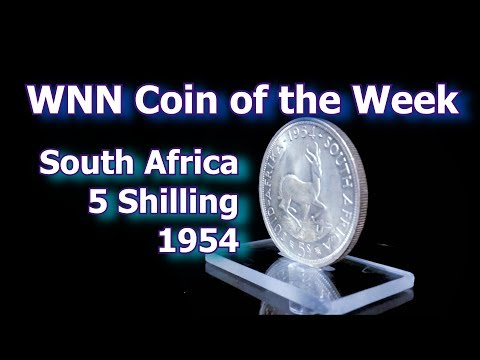 Coin Of The Week : South African 1954 Silver 5 Shilling Crown Coin