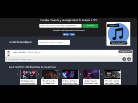 El mejor convertidor para Youtube a MP3 gratis. Convierte, escucha y descarga instantania mente.