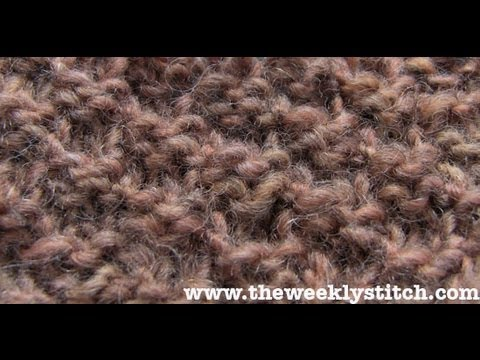 Double Moss Stitch Youtube