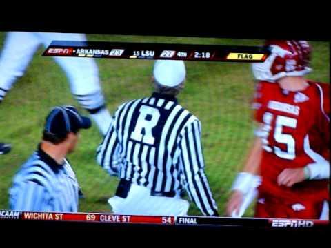 "LSU vs. Arkansas 2009 - Chad Jones - ""THE HIT"""