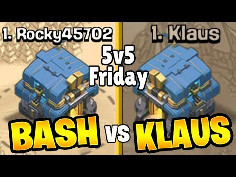 THE BIGGEST 5v5 FRIDAY IN HISTORY: BASH VS KLAUS! - Clash of Clans