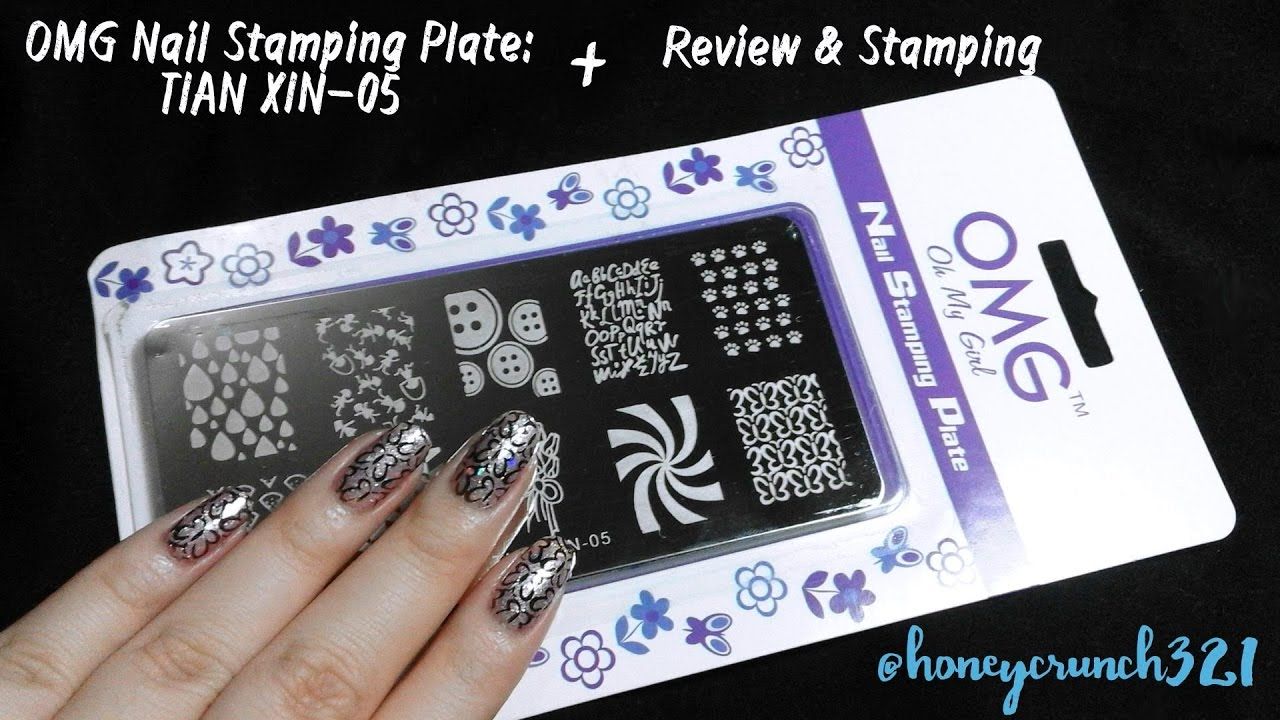 Omg Oh My Girl Stamping Plate Tian Xin 05 Review Tutorial