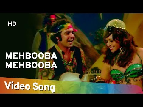 Mehbooba Mehbooba | Sholay (1975) | Helen | Amitabh Bachchan | Bollywood Dance Hit Song