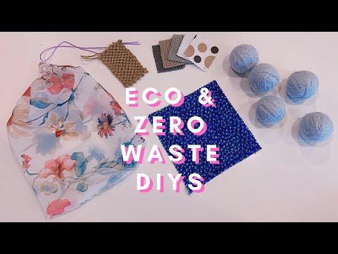 Eco + Zero Waste DIYs🌿 (makeup wipes, dryer balls, beeswax wraps, biodegradable sponge, etc.) - YouTube