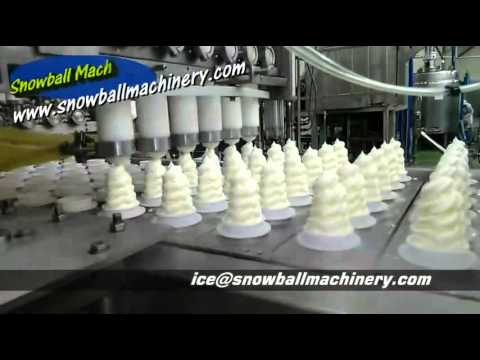 6 Lane Ice Cream Filling Machine Cup And Cone Filling
