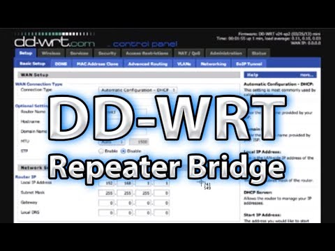 How to use DDWRT Linksys router to create acces point or repeater?