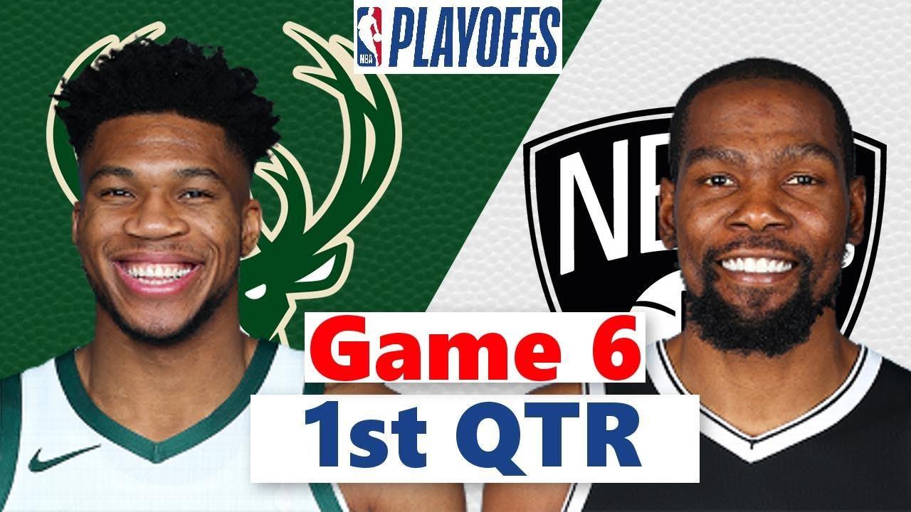 Download Brooklyn Nets vs. Milwaukee Bucks Full Highlight 1st QTR Game 6 | NBA Playoffs 2021