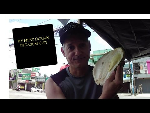My First Durian in Tagum City Philippines
