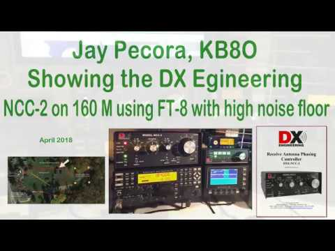 KB8O uses the DX Engineering NCC-2 on 160M FT8