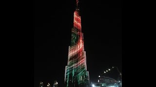 Burj Khalifa LED Show 2016 at Downtown , UAE