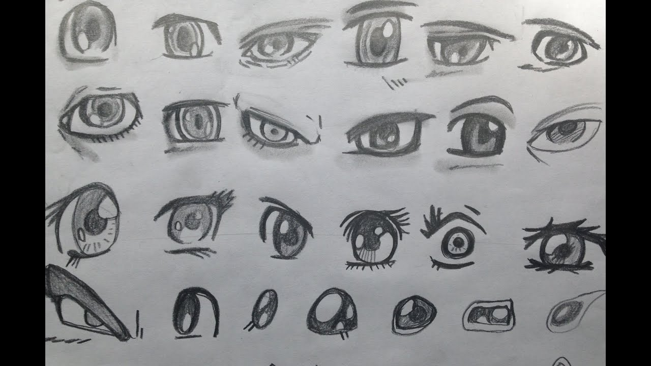 How To Draw Manga Eyes For The Absolute Beginner 9 23 2017