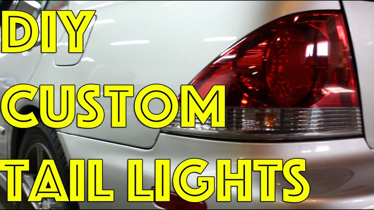 Diy Custom Tail Lights Tint Vht Night Shades Is300
