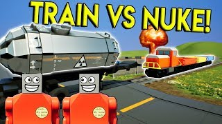 LEGO NUKE STOPS THE LEGO TRAIN?! - Brick Rigs Multiplayer Roleplay & Gameplay Challenge - Lego Train