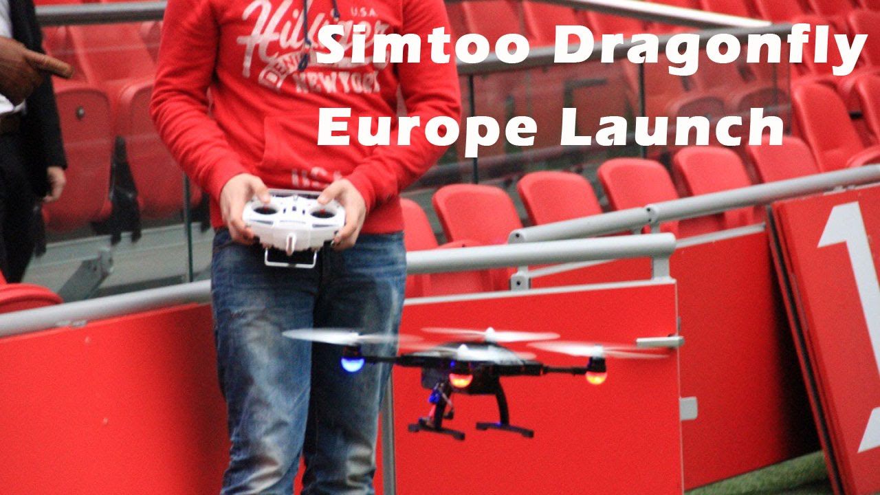 Simtoo Dragonfly Drone Europe Launch In Amsterdam Arena By CRTVNL