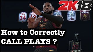 NBA 2K18 Tips & Tricks: How to Call Plays in NBA 2K18 Correctly. How to play 2K18 Tutorial #68
