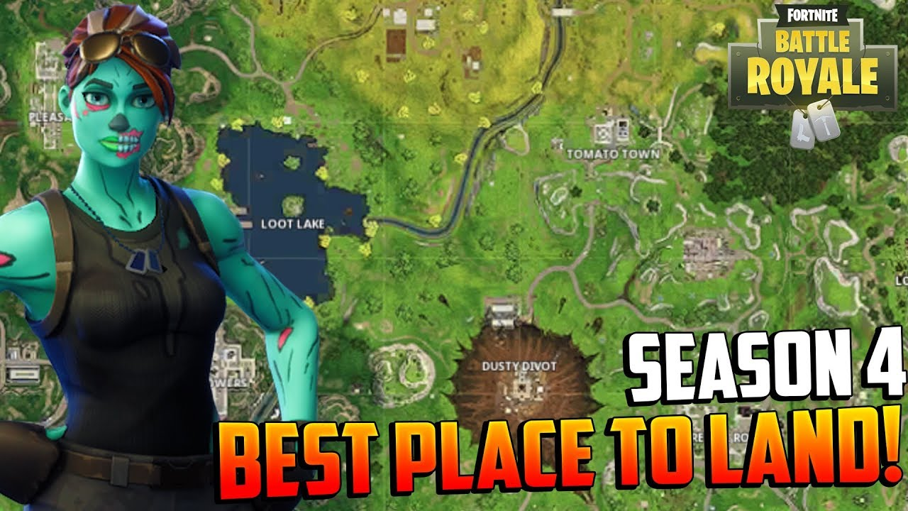 fortnite season 4 the best loot spot place to land win more games on ps4 - fortnite best spots to land