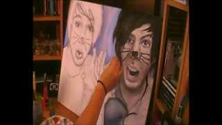 AMAZINGPHIL and danisnotonfire Speed Painting / Time Lapse