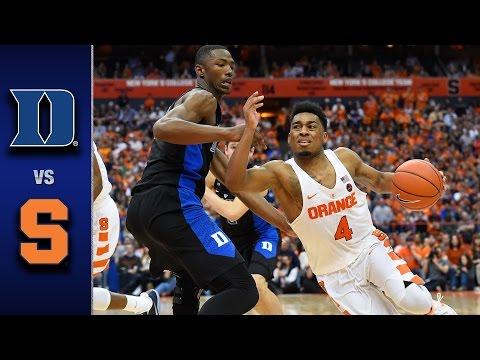 Duke vs. Syracuse Men's Basketball Highlights (2016-17)