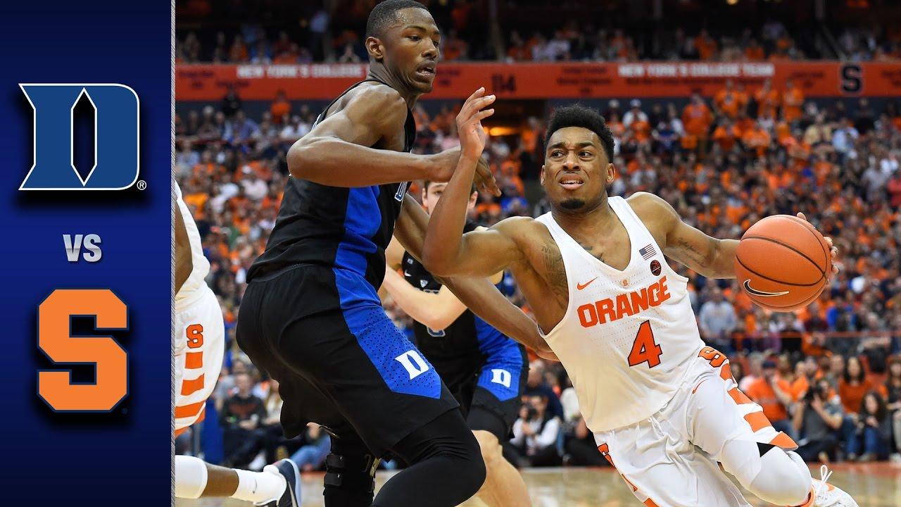 Duke Vs Syracuse Men S Basketball Highlights 2016 17 Youtube