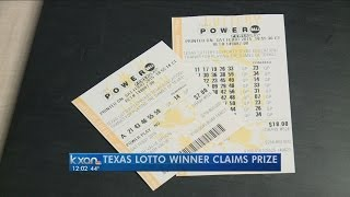 Texas Lotto winner claims prize