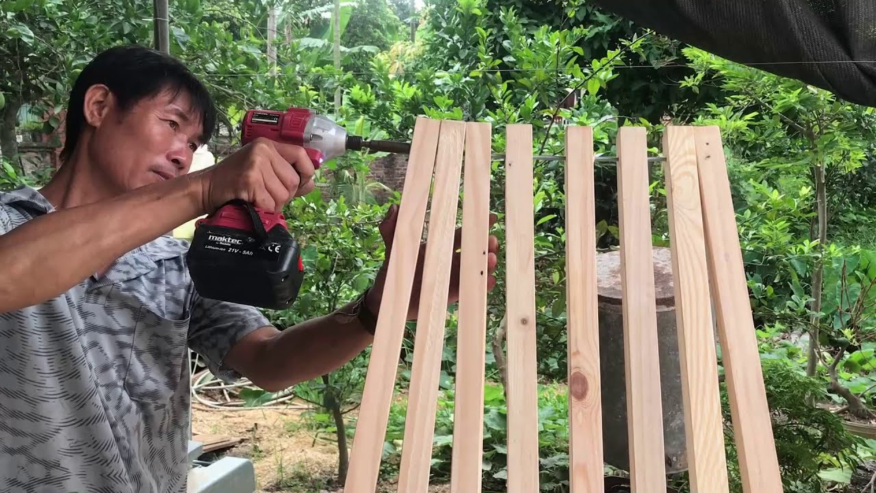 Amazing Idea From Wood Scraps // How To Make A Extremely Sturdy And Beautiful Folding Chair - DIY!