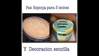 Pan Esponja y Decoracion facil