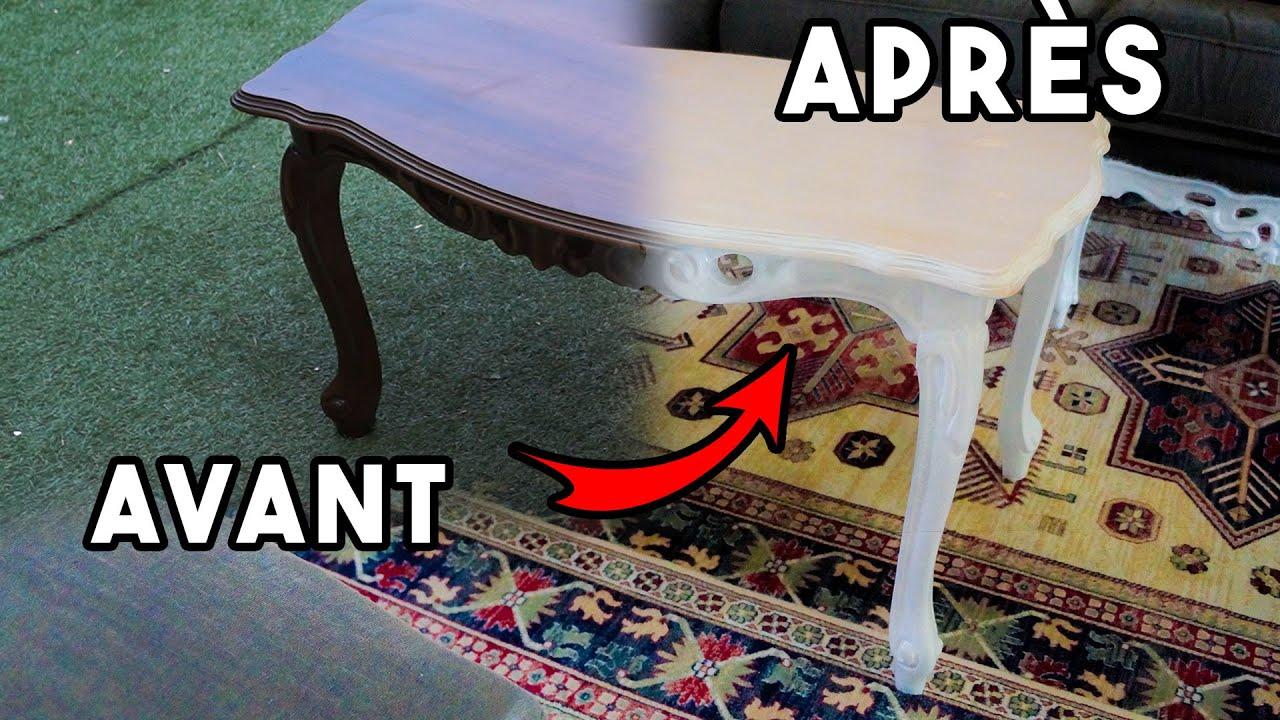 relooker une table basse en bois