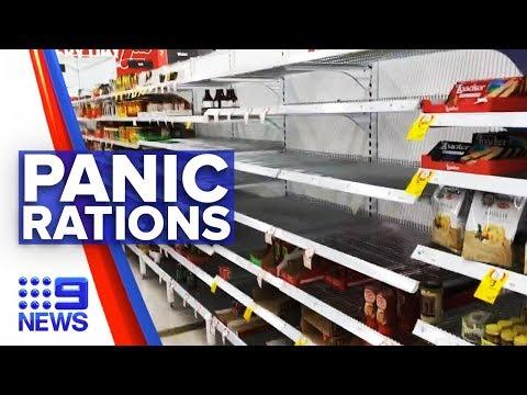 Coronavirus: Customers clear supermarket shelves nationwide   Nine News Australia