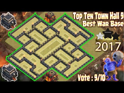 Clash of Clans (Coc) Town Hall 9 (Th9) Best War Base Anti 2 Star 2017. New Update