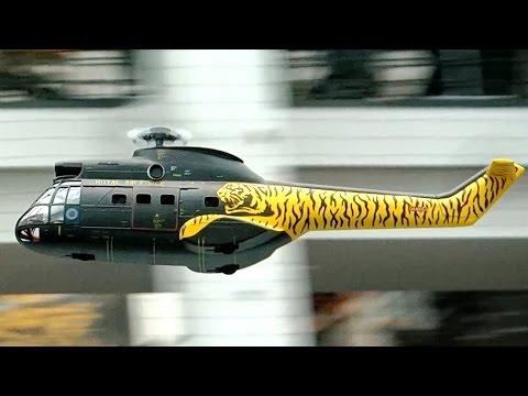 AS-332 SUPER PUMA RC SCALE MODEL HELICOPTER FLIGHT DEMO / Faszination Modellbau 2015