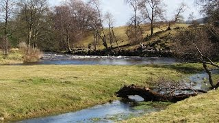 Yorkshire Dales Country Walk  Wensleydale - West Witton-Knights Templars-River Ure-Redmire Force rou