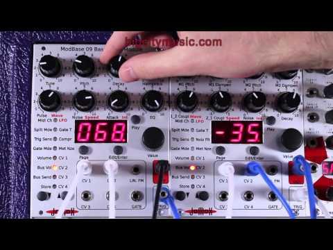 Jomox ModBase 09 Bass Drum & MBrane 11 Percussion Eurorack Modules