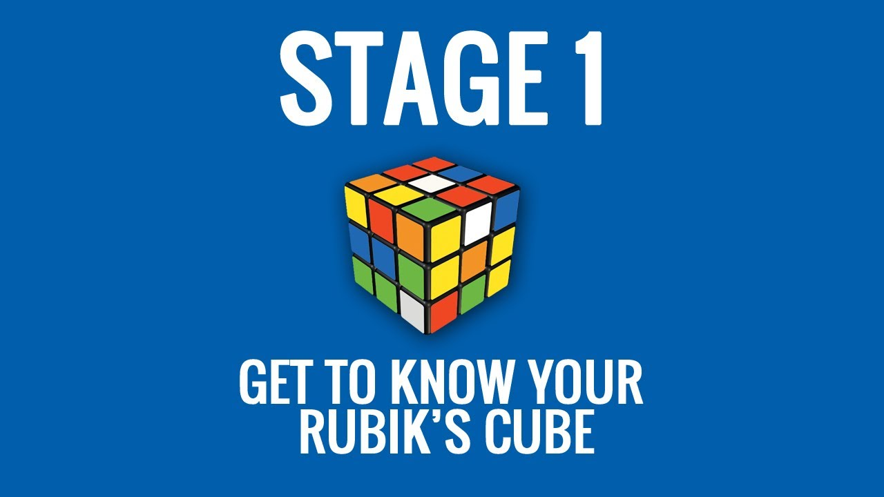 how to solve a rubik s cube retro guide stage 1 [ 1280 x 720 Pixel ]