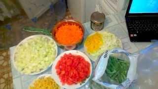 Овощное рагу/ассорти на зиму, замораживаем овощное ассорти на зиму