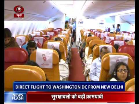 Air India starts direct flight to Washington DC from New Delhi