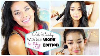 Get Ready with Me: Work Edition! ♡ Makeup, Hair, Outfit ♡ 50 VoSummer Thumbnail