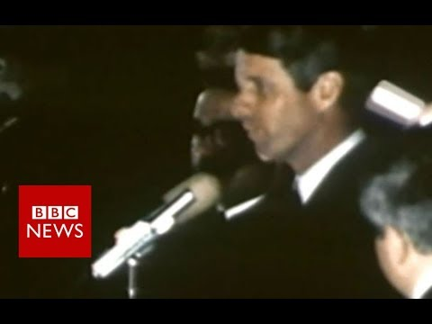 The moment Americans heard Martin Luther King Jr had died - BBC News