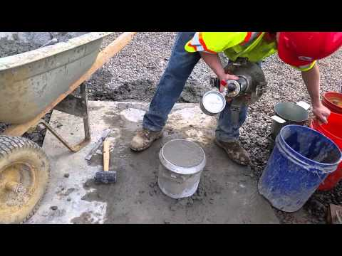 Performing The Concrete Air Meter Test