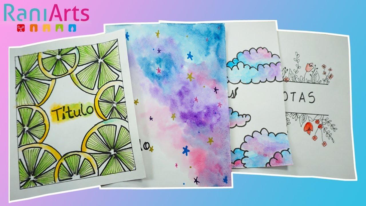 Dibujos Para Portadas De Cuaderno: PORTADAS PARA TUS CUADERNOS Y TAREAS! FÁCILES
