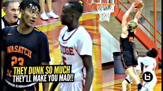 They Make Opponents MAD From Dunking TOO MUCH!! Caleb Lohner & Wasatch Academy Want Smoke!