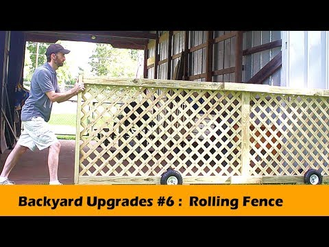 Rolling Fence Gate DIY - Backyard Upgrades #6