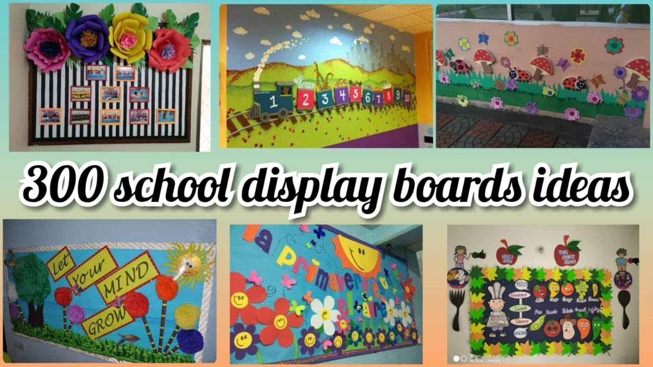300 Board Decoration Ideas For School Notice Class Youtube