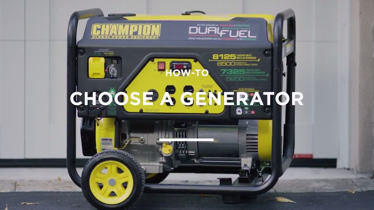 How to choose a generator 86