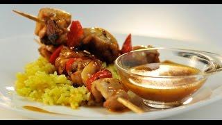 Куриные шашлычки в мандариновом соусе | Дежурный по кухне