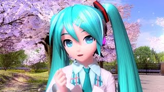 "Hatsune Miku: Project DIVA Future Tone - [PV] ""Sakura no Ame"" (Romaji/English/Español Subs)"