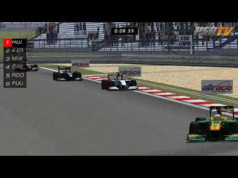 rFactor F1 2011 Formula SimRacing Broadcasts - Round 03 Chin
