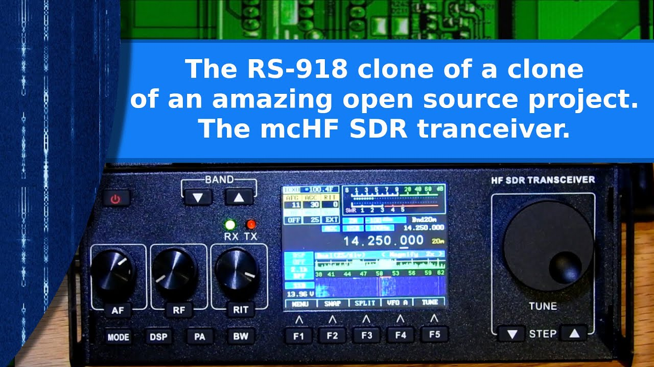 Ham Radio - The RS-918 clone of a clone of an outstanding open source SDR  transceiver, the mcHF