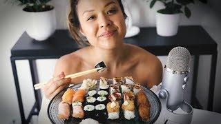 ASMR SUOMI 🍣🥢 Sushi Mukbang 🍣🥢