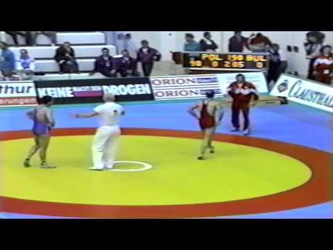 1991 Senior European Greco Championships: 90 kg Marek Kraszewski (POL) vs. Ivailo Jordanov (BUL)