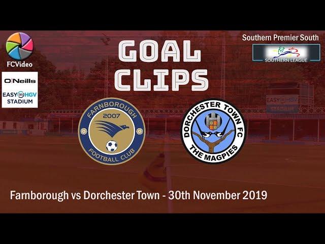 2019-11-30 | Farnborough vs Dorchester Town | Goals